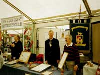 2002_06_Pat Grady manning the Guild Stall at the Lives & Times Exhibition