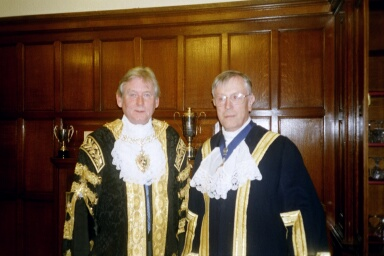 2002_11_The Lord Mayor of Coventry Cllr David Chater with the Master Morris Hall