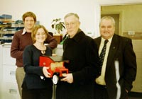 2003_The Guild presents wooden toys to the Child and Adolescent Mental Health Service, Gulson Hospital