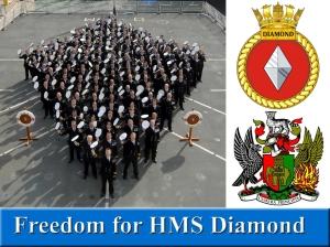 Freedom for HMS Diamond